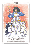The Chariot Tarot card in Simplicity deck