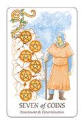 Seven of Coins Tarot card in Simplicity deck