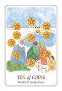 Ten of Coins Tarot card in Simplicity deck