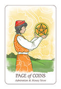 Page of Coins Tarot card in Simplicity deck
