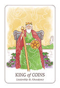 King of Coins Tarot card in Simplicity deck
