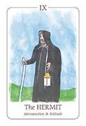 The Hermit Tarot card in Simplicity deck