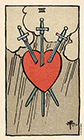 smith-waite - Three of Swords