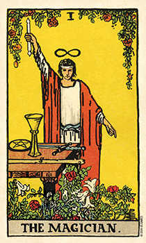 The Magician Tarot Card - Smith Waite Centennial Tarot Deck