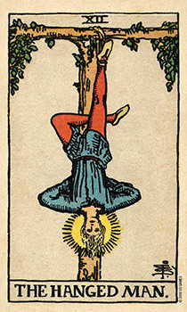 The Lone Man Tarot Card - Smith Waite Centennial Tarot Deck