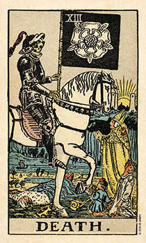 Death Tarot Card - Smith Waite Centennial Tarot Deck