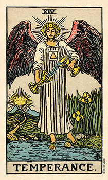 Temperance Tarot Card - Smith Waite Centennial Tarot Deck