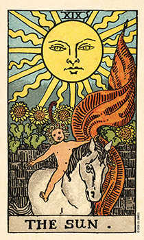 The Sun Tarot Card - Smith Waite Centennial Tarot Deck
