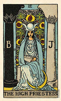 The Priestess Tarot Card - Smith Waite Centennial Tarot Deck