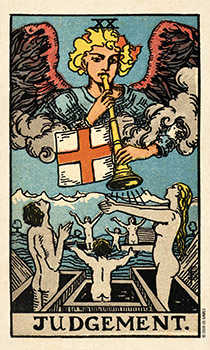 The Judgment Tarot Card - Smith Waite Centennial Tarot Deck