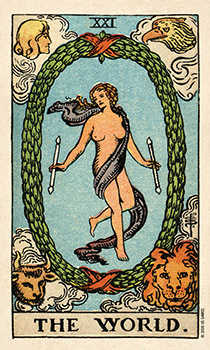 The World Tarot Card - Smith Waite Centennial Tarot Deck