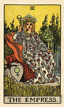 The Empress Tarot Card - Smith Waite Centennial Tarot Deck