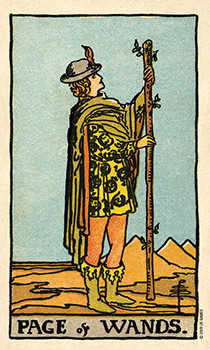 Page of Lightening Tarot Card - Smith Waite Centennial Tarot Deck
