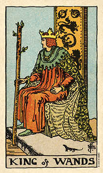 King of Staves Tarot Card - Smith Waite Centennial Tarot Deck