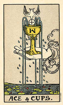 Ace of Cups Tarot Card - Smith Waite Centennial Tarot Deck