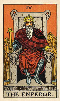 The Emperor Tarot Card - Smith Waite Centennial Tarot Deck