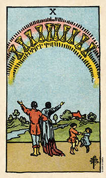Ten of Cauldrons Tarot Card - Smith Waite Centennial Tarot Deck