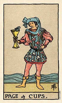 Daughter of Cups Tarot Card - Smith Waite Centennial Tarot Deck