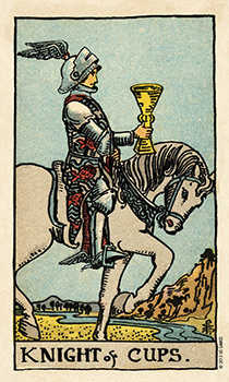 Cavalier of Cups Tarot Card - Smith Waite Centennial Tarot Deck
