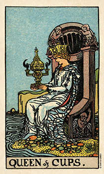 Queen of Hearts Tarot Card - Smith Waite Centennial Tarot Deck