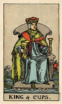 Shaman of Cups Tarot Card - Smith Waite Centennial Tarot Deck
