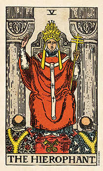 The Hierophant Tarot Card - Smith Waite Centennial Tarot Deck