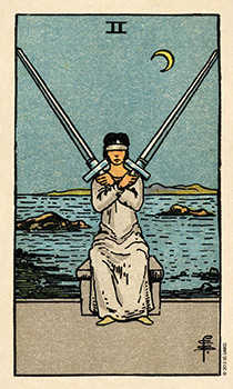 Two of Swords Tarot Card - Smith Waite Centennial Tarot Deck