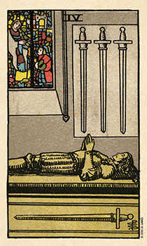 Four of Swords Tarot Card - Smith Waite Centennial Tarot Deck