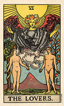 The Lovers Tarot Card - Smith Waite Centennial Tarot Deck