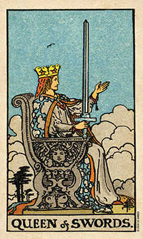 Queen of Swords Tarot Card - Smith Waite Centennial Tarot Deck