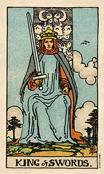 Roi of Swords Tarot Card - Smith Waite Centennial Tarot Deck