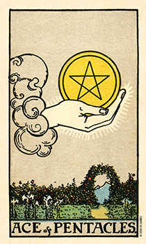 Ace of Discs Tarot Card - Smith Waite Centennial Tarot Deck