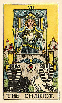 The Chariot Tarot Card - Smith Waite Centennial Tarot Deck