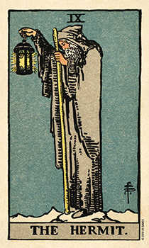 The Hermit Tarot Card - Smith Waite Centennial Tarot Deck
