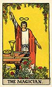 The Magician Tarot card in Smith Waite Centennial deck
