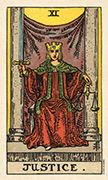 Justice Tarot card in Smith Waite Centennial deck