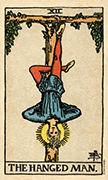 The Hanged Man Tarot card in Smith Waite Centennial deck