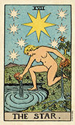 The Star Tarot card in Smith Waite Centennial deck
