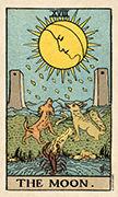 The Moon Tarot card in Smith Waite Centennial Tarot deck