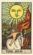 The Sun Tarot card in Smith Waite Centennial deck