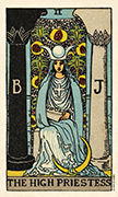 The High Priestess Tarot card in Smith Waite Centennial deck