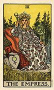 The Empress Tarot card in Smith Waite Centennial deck