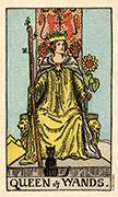 Queen of Wands Tarot card in Smith Waite Centennial Tarot deck