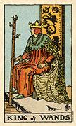 King of Wands Tarot card in Smith Waite Centennial deck