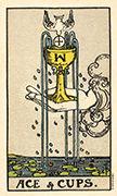 Ace of Cups Tarot card in Smith Waite Centennial deck