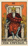 The Emperor Tarot card in Smith Waite Centennial deck