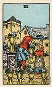 Six of Cups Tarot card in Smith Waite Centennial deck