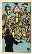 Seven of Cups Tarot card in Smith Waite Centennial deck