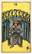 Nine of Cups Tarot card in Smith Waite Centennial deck