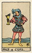 Page of Cups Tarot card in Smith Waite Centennial Tarot deck